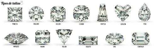 Variedad de tallas de piedras preciosas