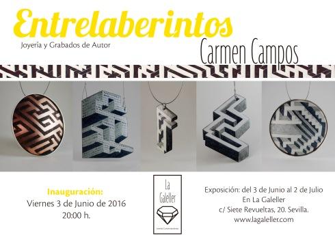 Cartel invitación Entrelaberintos